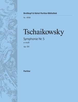 TCHAIKOVSKY - Symphony Nr. 5 e-moll op. 64 - Partitur - Sheet Music - di-arezzo.co.uk