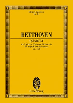 Streichquartett B-Dur op. 18/6 -Partitur BEETHOVEN laflutedepan