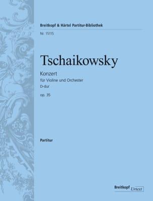 Piotr Illitch Tchaikovski - Concerto Pour Violon en Ré Majeur Opus 35 - Partition - di-arezzo.fr