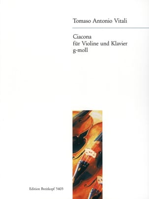 Tommaso Antonio Vitali - Ciacona g-moll - バイオリン - 楽譜 - di-arezzo.jp