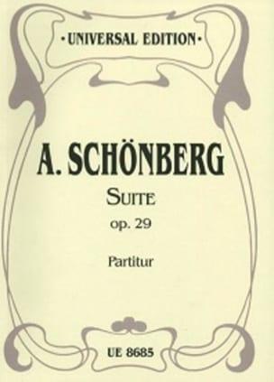 Suite op. 29 - Partitur SCHOENBERG Partition laflutedepan