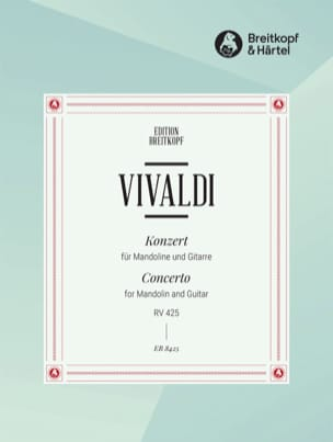 VIVALDI - Mandolin Concerto in C Maj. Rv 425 - Sheet Music - di-arezzo.co.uk