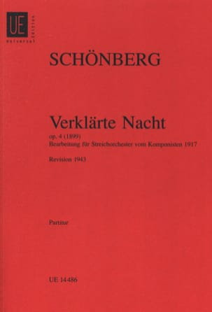 Arnold Schoenberg - Verklärte Nacht op. 4 - Streichorch. - Partitur - Partition - di-arezzo.fr