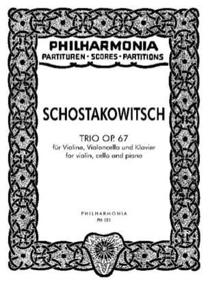 Dmitri Chostakovitch - Trio op. 67 – Partitur - Partition - di-arezzo.fr