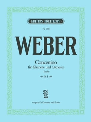 Carl Maria von Weber - Concertino Es-Dur op. 26 - Klarinette Klavier - Sheet Music - di-arezzo.co.uk