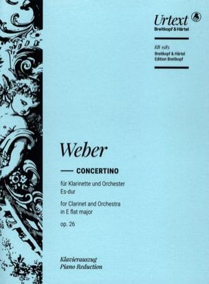 Carl Maria von Weber - Concertino Es-Dur op. 26 –Klarinette Klavier - Partition - di-arezzo.fr