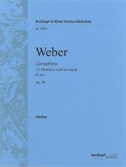 Carl Maria von Weber - Concertino for Klarinette Es-Dur op. 26 - Partitur - Sheet Music - di-arezzo.co.uk