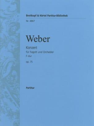 Carl Maria von Weber - Fagottkonzert F-Dur op. 75 - Partitur - Sheet Music - di-arezzo.co.uk