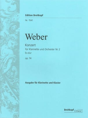 Carl Maria von Weber - Konzert für Klarinette and Orchester Nr. 2 Es-Dur op. 74 - Klarinette Klavier - Sheet Music - di-arezzo.co.uk