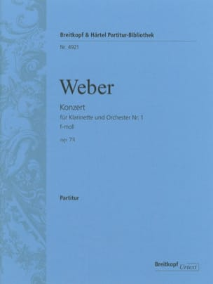 Carl Maria von Weber - Klarinettenkonzert Nr. 1 f-moll op. 73 - Partitur - Sheet Music - di-arezzo.co.uk
