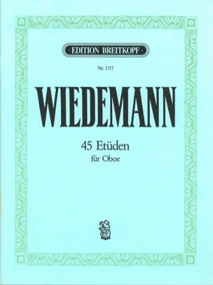 Ludwig Wiedemann - 45 Etüden für Oboe - Partition - di-arezzo.fr