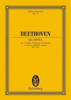 BEETHOVEN - Streichquartett c-moll op. 18/4 - Partitur - Sheet Music - di-arezzo.com