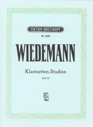 Ludwig Wiedemann - Klarinetten-Studien, Bd III - Partitura - di-arezzo.es