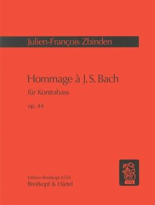 Julien-François Zbinden - Hommage à J. S. Bach op. 44 - Partition - di-arezzo.fr