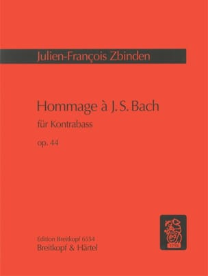 Julien-François Zbinden - Tribute to JS Bach op. 44 - Sheet Music - di-arezzo.co.uk