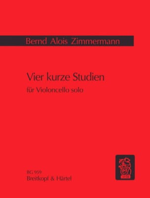 Bernd Alois Zimmermann - Vier kurze Studien - Sheet Music - di-arezzo.co.uk
