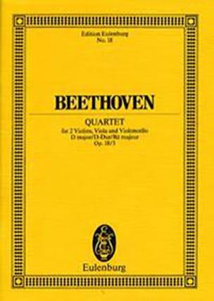 Ludwig van Beethoven - Streichquartett D-Dur op. 18/3 –Partitur - Partition - di-arezzo.fr