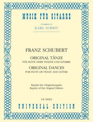 SCHUBERT - Original Tänze - Flöte o. Violine u. Gitarre - Partition - di-arezzo.fr