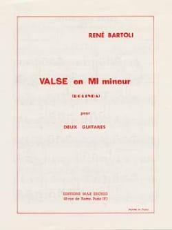 Valse en mi mineur René Bartoli Partition Guitare - laflutedepan