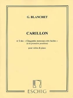 Georges Blanchet - Carillon - Sheet Music - di-arezzo.co.uk