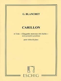 Georges Blanchet - Carillon - Partition - di-arezzo.fr