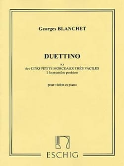 Georges Blanchet - Duettino - Partition - di-arezzo.fr