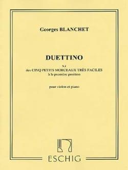 Georges Blanchet - Duettino - Partition - di-arezzo.fr