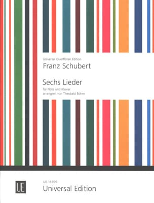SCHUBERT - 6 Lieder - Flöte Klavier - Sheet Music - di-arezzo.co.uk