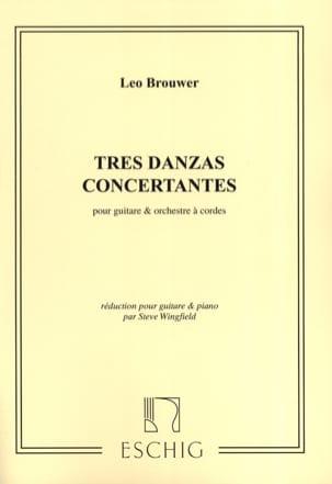Leo Brouwer - Tres Danzas concertantes - guitare et piano - Partition - di-arezzo.fr