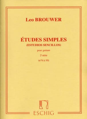 Leo Brouwer - Simple Studies - 2nd Series - Partition - di-arezzo.co.uk
