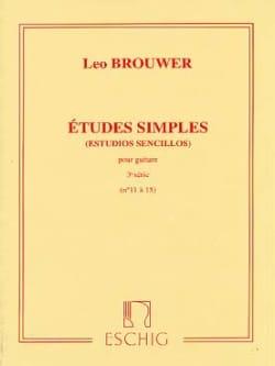Leo Brouwer - Etudes Simples - 3ème Série - Partition - di-arezzo.fr