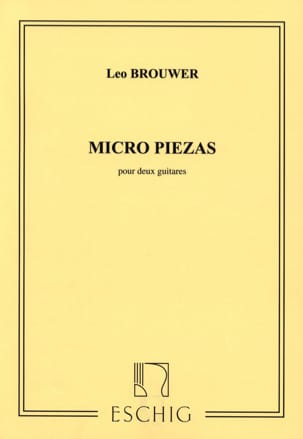 Micro piezas - Leo Brouwer - Partition - Guitare - laflutedepan.com