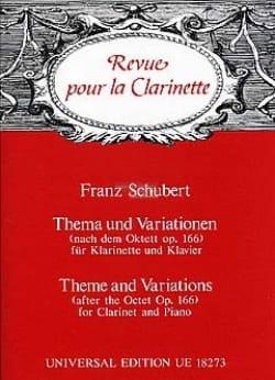 Thema und Variationen SCHUBERT Partition Clarinette - laflutedepan