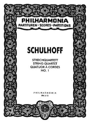 Erwin Schulhoff - Streichquartett Nr. 1 - Partitur - Sheet Music - di-arezzo.co.uk