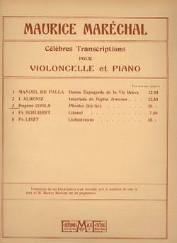 Pliaska - Eugène Cools - Partition - Violoncelle - laflutedepan.com