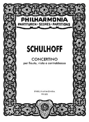 Erwin Schulhoff - Concertino - Partitur - Partition - di-arezzo.fr