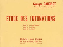 DANDELOT - Study of intonations - Natural notes Cahier 1 - Sheet Music - di-arezzo.co.uk