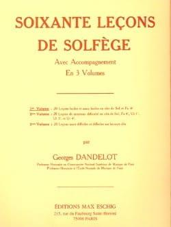 60 Leçons de solfège - Volume 1 A/A DANDELOT Partition laflutedepan