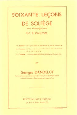 DANDELOT - 60 Solfege Lessons - Volume 2 S / A - Sheet Music - di-arezzo.com