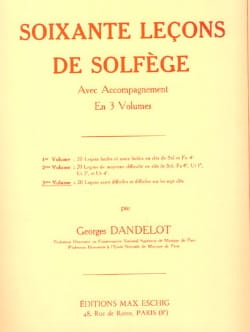 Georges Dandelot - 60 Solfege Lessons - Volume 3 A / A - Sheet Music - di-arezzo.co.uk