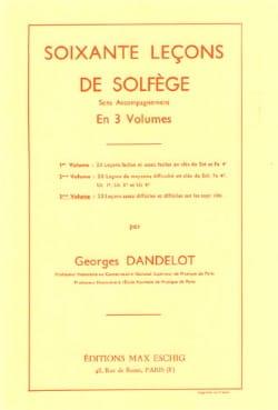 60 Lecons de solfège - Volume 3 S/A DANDELOT Partition laflutedepan