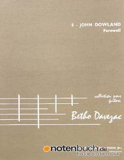 John Dowland - Farewell - Partition - di-arezzo.fr