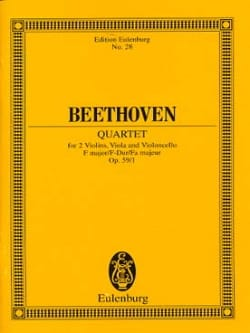 BEETHOVEN - Streichquartett F-Dur op. 59/1 - Partitur - Partitura - di-arezzo.it