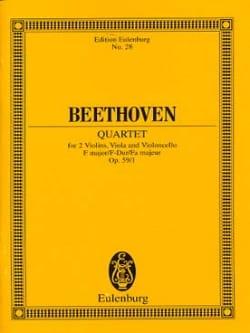 BEETHOVEN - Streichquartett F-Dur op. 59/1 -Partitur - Partition - di-arezzo.fr