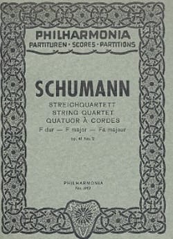SCHUMANN - Streichquartett F-Dur op. 41 n° 2 - Partitur - Partition - di-arezzo.fr