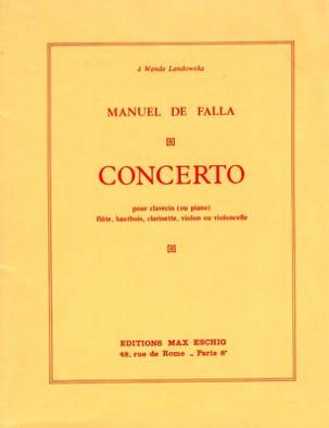 Manuel de Falla - Concerto pour Clavecin - Conducteur - Partition - di-arezzo.fr