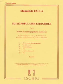 DE FALLA - Spanish popular suite - Sheet Music - di-arezzo.com
