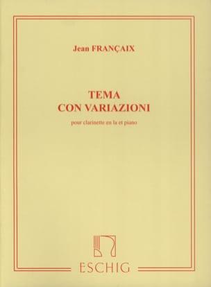 Jean Françaix - Tema con variazioni - Partition - di-arezzo.fr