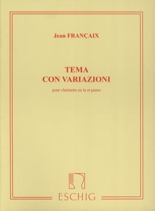 Tema con variazioni FRANÇAIX Partition Clarinette - laflutedepan