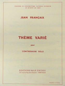 Jean Francaix - Thème Varié - Partition - di-arezzo.fr